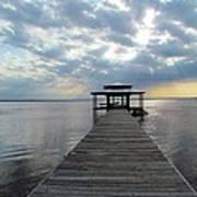 Sun Rays On The Lake Art Print