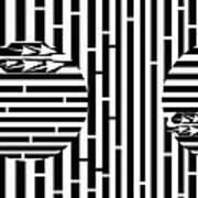 Sun Re-rising Maze Art Print