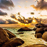 Sun Sand Sea And Rocks Art Print