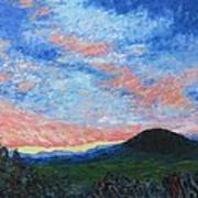 Sun Setting Over Mole Hill - Sold Art Print