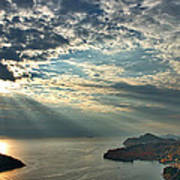 Sunbeams On Dubrovnik Art Print