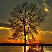 Sunblock A Sunset On Lake Oconee Art Print