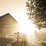 Sunburst On The Farm Art Print