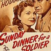 Sunday Dinner For A Soldier, Us Poster Art Print