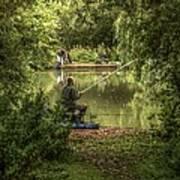 Sunday Fishing At The Lake Art Print
