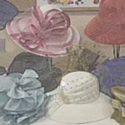 Sunday Hats For Sale Art Print