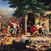 Sunday Morning In The Mines Print by Charles Nahl