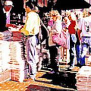 Sunday Morning Paper Sidewalk Newsstand Digitl Art Art Print