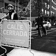 sunday morning roads closed for cyclists and walkers Santiago Chile Art Print