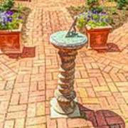 Sundial In The Garden Art Print