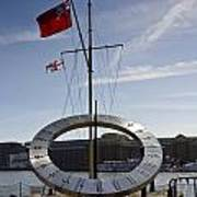 Sundial St Katherines Dock Art Print