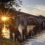 Sundown Bridge Art Print