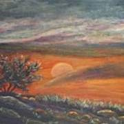 Sundown In Vail Az Art Print