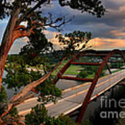 Sundown On Pennybacker 360 Art Print