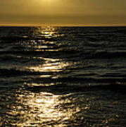 Sundown Reflections On The Waves Art Print