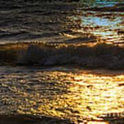 Sundown Shimmer On The Waves Art Print