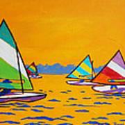 Sunfish Sailboat Race Art Print