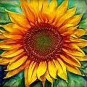 Sunflower - Paint Edition Art Print