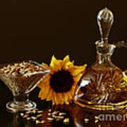 Sunflower And Crystal Art Print