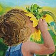 Sunflower Annie Art Print