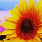 Sunflower At Beach Art Print