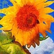 Sunflower - Bee Happy Art Print