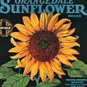 Sunflower Brand Crate Label Art Print