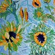 Sunflower Cycle Of Life 1 Print by Vicky Tarcau