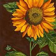 Sunflower Art Print by Diane Ferron