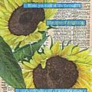 Sunflower Dictionary 2 Art Print
