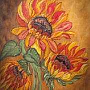 Sunflower Enchantment Art Print by Ella Kaye Dickey