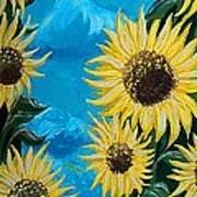 Sunflower Fun Art Print
