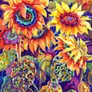 Sunflower Garden Art Print by Ann  Nicholson