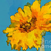 Sunflower Illusion Art Print