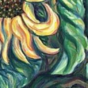 Sunflower One Panel Four Of Four Art Print