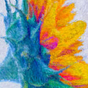 Sunflower Profile Impressionism Art Print