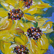 Sunflower Quartet Art Print
