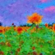 Sunflower Rhapsody Art Print