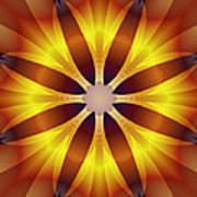 Sunflower Rose Art Print