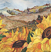 Sunflower Serenity Art Print by Meldra Driscoll