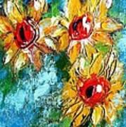 Sunflower Study Painting Art Print