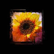 Sunflower Sunset - Art Nouveau  Art Print