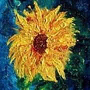 Sunflower - Tribute To Vangogh Art Print