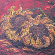 Sunflowers 2 - Ode To Van Gogh Art Print