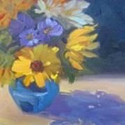 Sunflowers And Daisies Art Print