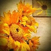 Sunflowers And The Sun Art Print