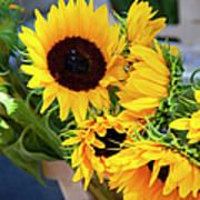 Sunflowers At Market Art Print