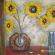 Sunflowers Art Print by Elena  Constantinescu