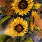 Sunflowers For Cyndi Art Print