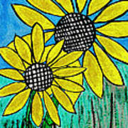 Sunflowers For Fun Art Print